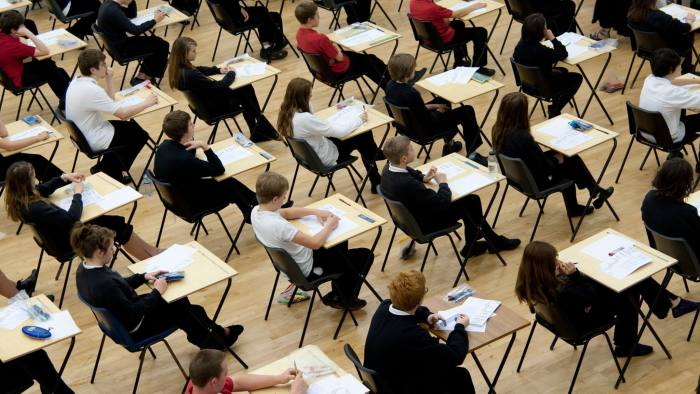 C3PD3T school students sitting their GCSE examinations, UK