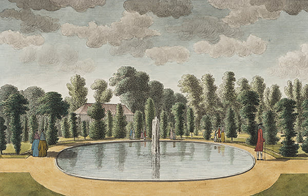 'The Fountain in the East Front Garden', by John Spyers