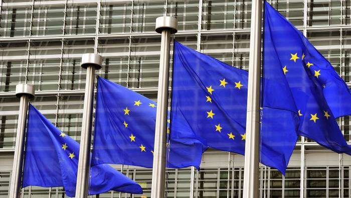 European flags fly at the entrance of th...European flags fly at the entrance of the EU Commission Berlaymont building in Brussels on May 21,2014. Britain and the Netherlands kick off on May 22, 2014 four-day European elections likely to see major gains for anti-EU parties bent on destroying the European Union from the inside. AFP PHOTO GEORGES GOBETGEORGES GOBET/AFP/Getty Images