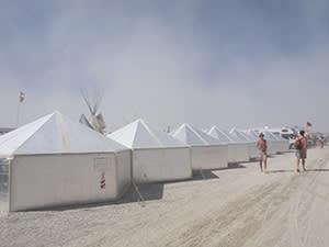 Hexayurt City, designed by Vinay Gupta for Burning Man 2013
