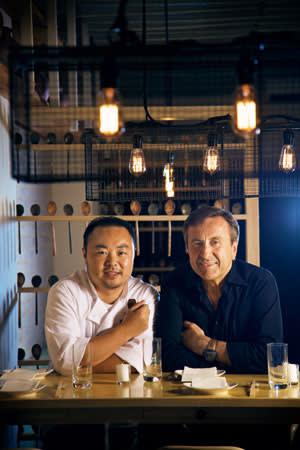 Hooni Kim and Daniel Boulud at Danji, New York