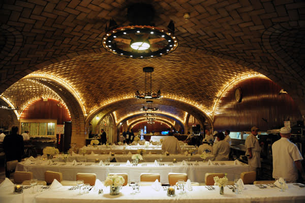 The Oyster Bar, with its magnificent tiled ceiling, in New York's Grand Central Terminal