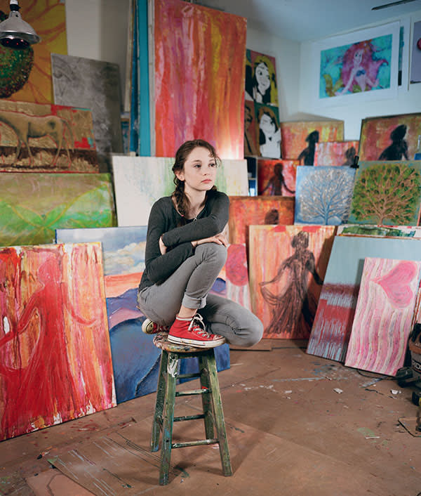 Meet art prodigy Autumn de Forest, 14, who has sold $7m of paintings