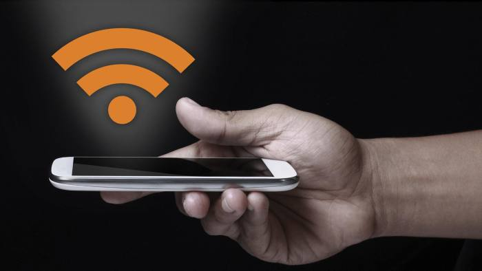 Wifi icon showing on smartphone