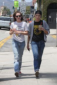 Kristen Stewart (left) and Alicia Cargile in LA