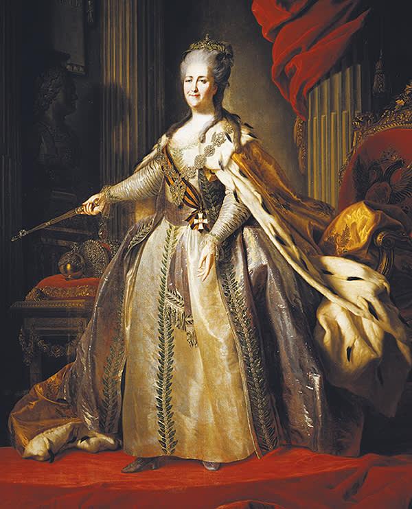 'Portrait of Catherine II', by Fyodor Rokotov, c1770