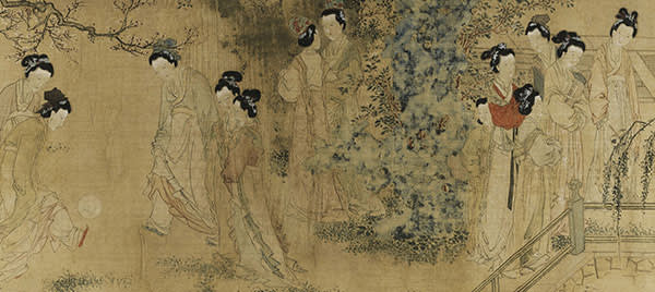 Court Ladies in the Inner Palace (detail), circa. 1465-1509, by Du Jin
