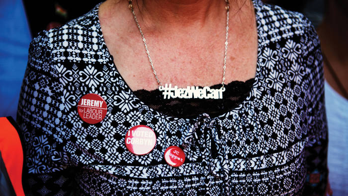 Supporter at a rally in Highbury
