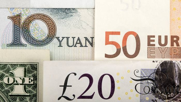 FILE PHOTO -  Arrangement of various world currencies including the Chinese Yuan, U.S. dollar, Euro and British pound are seen in this January 25, 2011 photo illustration.  REUTERS/Kacper Pempel/Illustration/File Photo