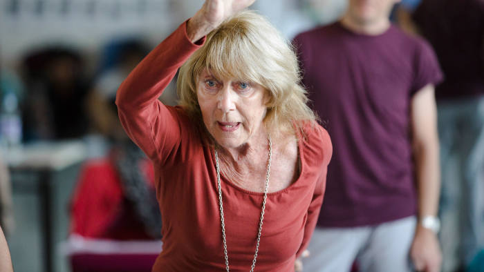 Gillian Lynne in rehearsal this month