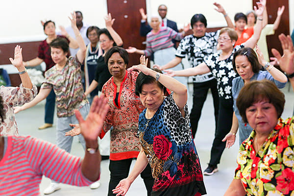 Special Report-Plaistow. 3/9/2015. Barking Road Community Centre. Zumba Class.