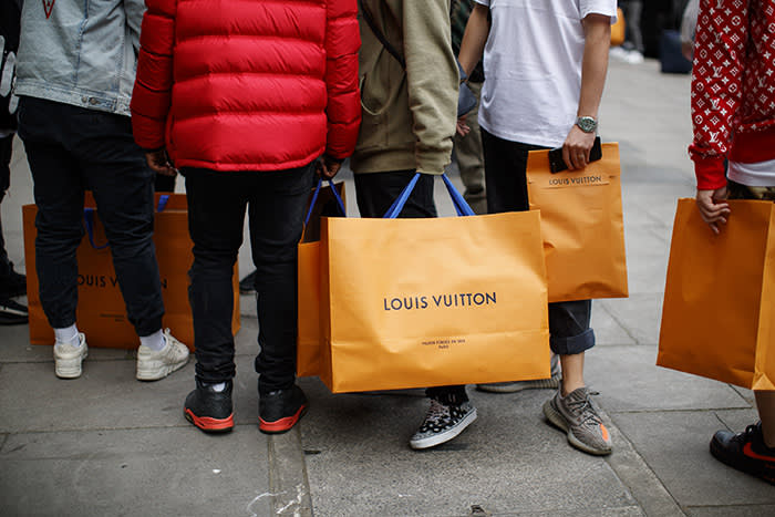 42b819bb1eb0 Louis Vuitton in collaboration with Supreme pop-up stores prompt ...