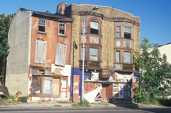 An abandoned building in Philadelphia