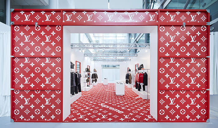 f19b6775da2a The Louis Vuitton in collaboration with Supreme pop-up store in London