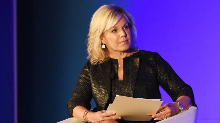 NEW YORK, NY - FEBRUARY 08: News anchor Gretchen Carlson moderates a panel discussion during the American Magazine Media Conference 2017 on February 8, 2017 in New York City. (Photo by Nicholas Hunt/Getty Images for American Magazine Media Conference)