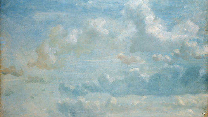 A cloud study by Constable, from Hampstead Heath. Written on the verso: 'Sepr. 21. 1822. Looking South, brisk wind to east, warm and fresh. 3 o'cl. afternoon.'