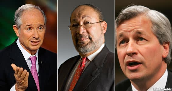 Stephen Schwarzman, Richard Parsons and Jamie Dimon