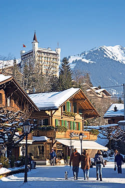 The Gstaad Palace hotel above the town
