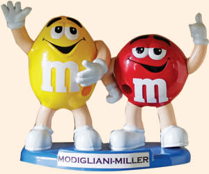 An M&M dispenser, a gift from Tufano's students