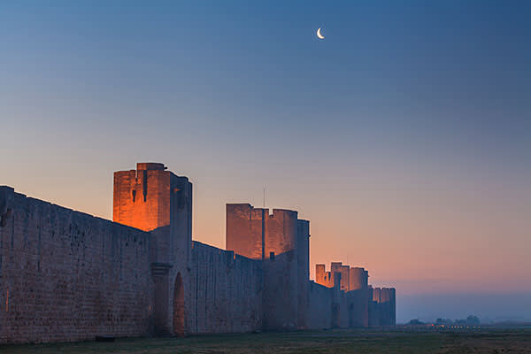 The medieval walled city of Aigues-Mortes in southern France