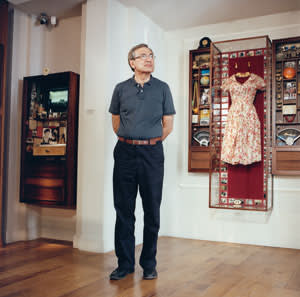 Orhan Pamuk in his Museum of Innocence