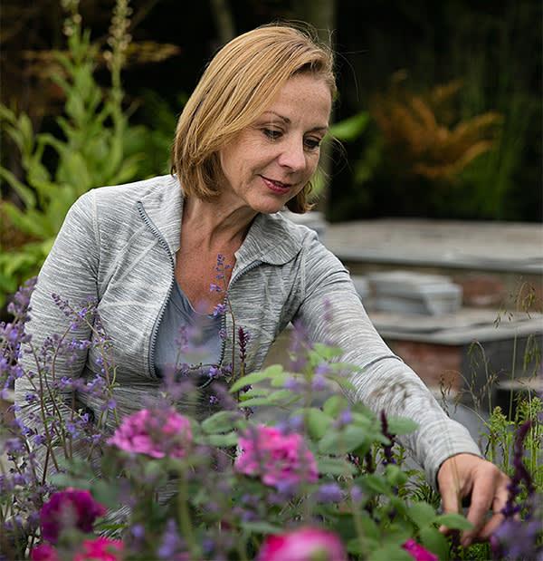 Jo Thompson in her show garden