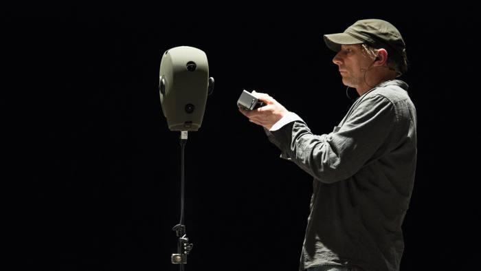 Simon McBurney performing 'The Encounter'. Photo: Gianmarco Bresadola