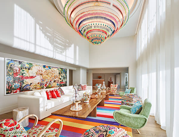 The lobby at the Faena Hotel, Miami