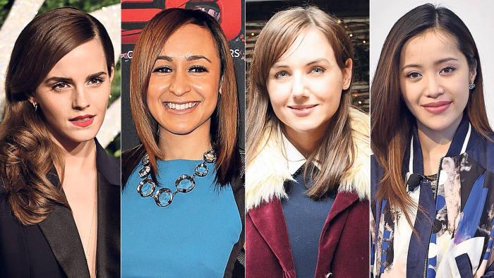 From left: Emma Watson, Jessica Ennis-Hill, Sali Hughes, Michelle Phan