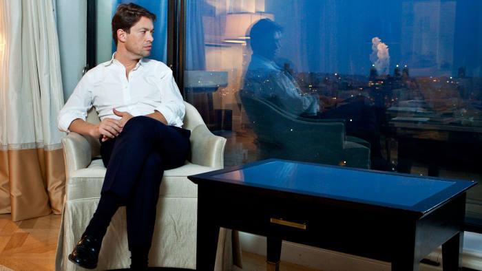 Nicolas Berggruen, founder and president of Berggruen Holdings, poses for a portrait in New York, US, on Wednesday, Sep. 22, 2010