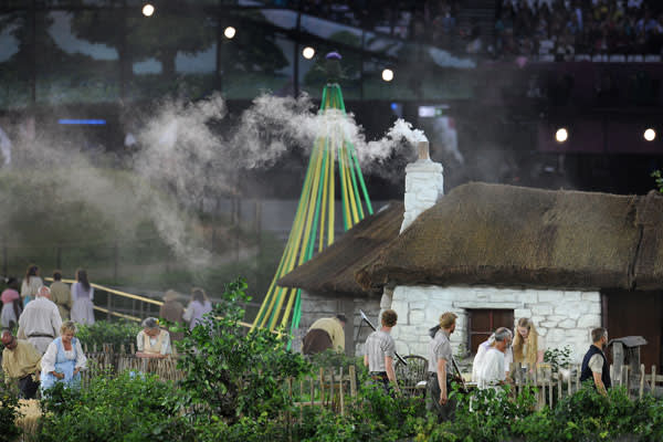 A scene from Danny Boyle's opening ceremony at the 2012 London Olympics