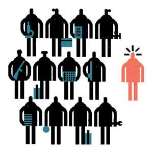 Unemployment illustration by Raymond Biesinger