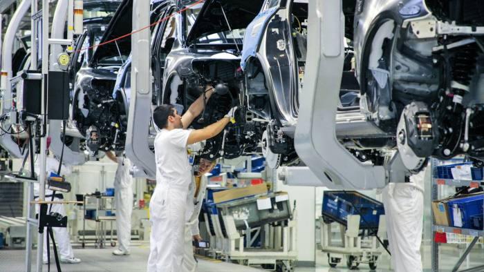 BDDXNM Car production in VW factory in Bratislava, Slovakia.