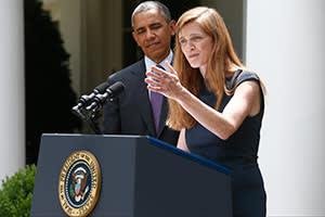 Samantha Power with Barack Obama