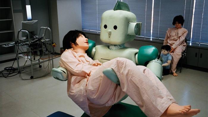Ri-man, a nurse robot developed at the Riken laboratory near Nagoya in Japan