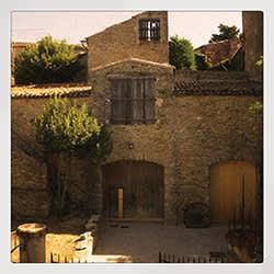 The façade of St John's winery in La Liviniere