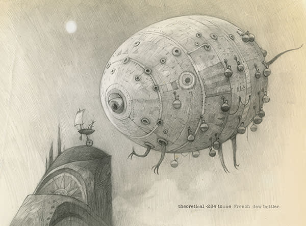 A conceptual drawing for the animated film 'The Lost Thing', 2010
