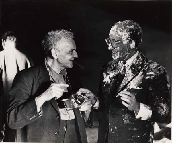 Weegee and Peter Sellers, 1963