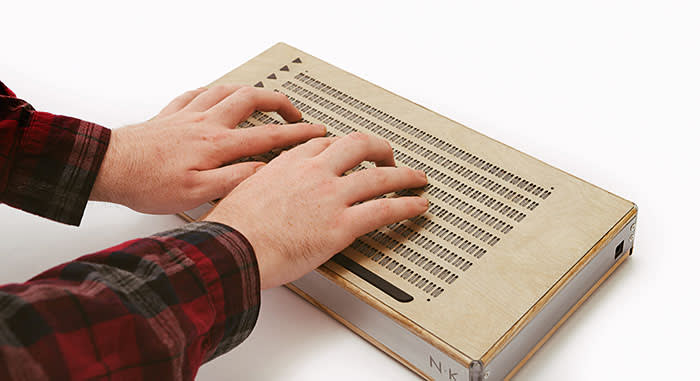 The Canute, still under development, is described as a 'Kindle for Braille', and aims to be cheaper than existing digital Braille readers
