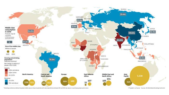 World demographic map