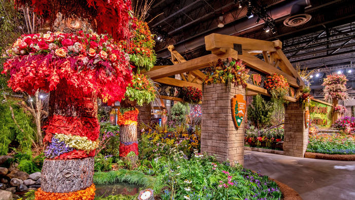 A display at the Philadelphia Flower Show