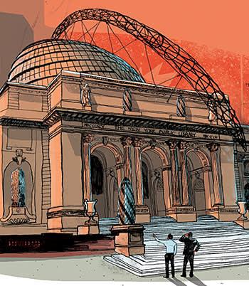 Luke Waller's illustration of New York Public Library