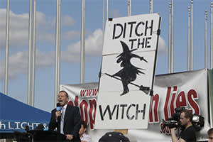 Tony Abbott addresses protesters