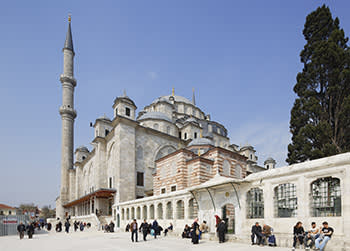 Fatih mosque, in an area of Istanbul that backs the Islamist Erdogan