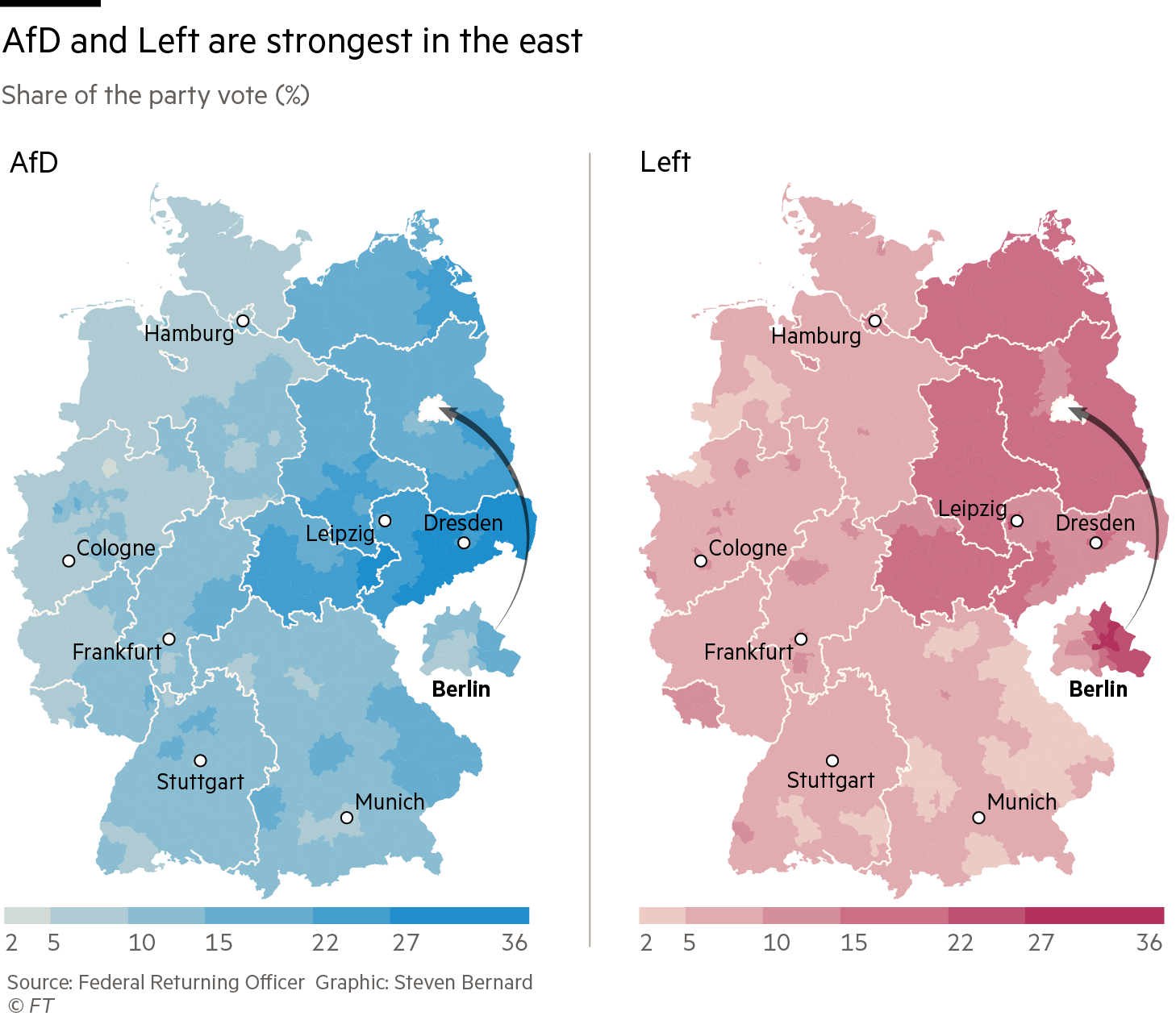 Germany S Election Results In Charts And Maps Financial Times