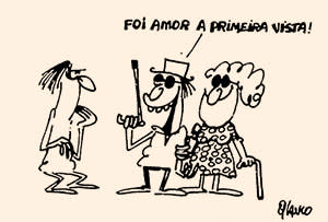 Glauco's first cartoon showing a blind couple