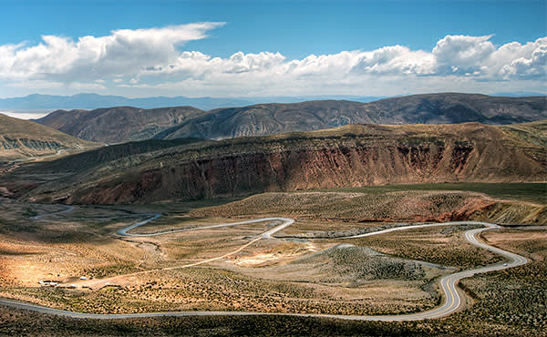 The twisting road through the Calchaquí Valleys