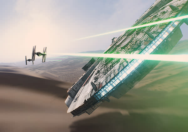 The latest Star Wars film, The Force Awakens