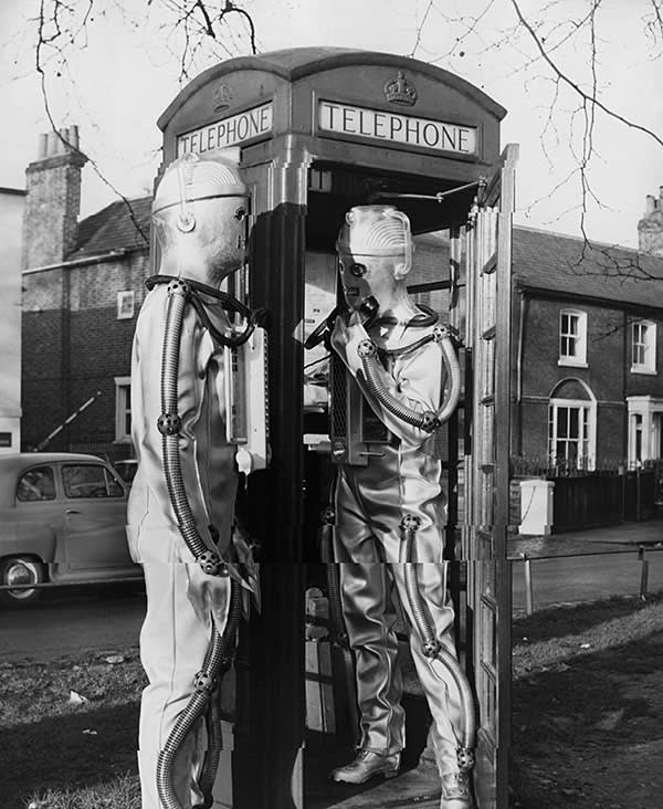 A scene from a 1967 episode of the BBC sci-fi series 'Doctor Who'