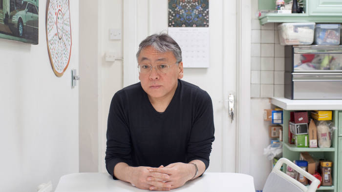 Kazuo Ishiguro at his home in Golders Green, north London
